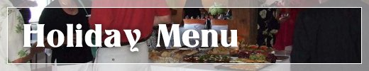 Catering Services Saline MI - Catering By Kevin - menu_holiday